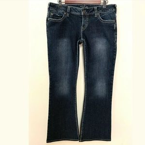Silver Jeans Pioneer Bootcut Jeans Flap Pockets